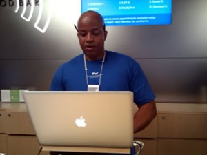 Apple store employee, they were fast!